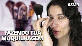 ASMR MAQUILHAGEM PARA RELAXAR | asmr cuidando de voce