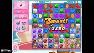 Candy Crush Level 866 Audio Talkthrough, 1 Star 0 Boosters