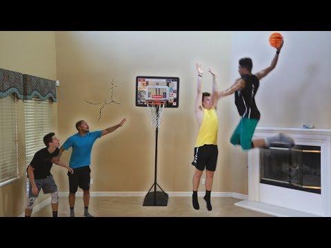 CRAZY HOUSE 2 V 2 MINI NBA BASKETBALL!