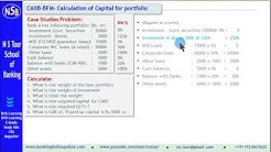 How to calculate Basel-3 Capital for Risk Weighted Assets - CAIIB-BFM-Case Study