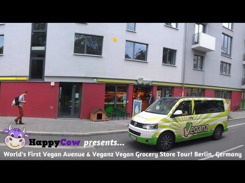World's First Vegan Avenue & Veganz Vegan Grocery Store Tour! - Avesu / DearGoods Berlin, Germany