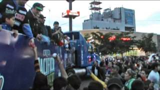 Celebran Cajemenses con Desfile Triunfo de los Yaquis