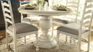 Paula Deen Home 5-pc Pedestal Set W/mike's Chairs In Linen
