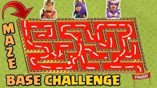 Clash Of Clans Heroes Maze Base Challenge | Maze Challenge - Who Will Win ?