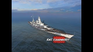 KMS Scharnhorst Tier 7 premium Battleship review for World of Warships Blitz