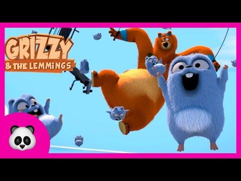 Grizzy and the lemmings Die Kanone Игра Гриззи и лемминги Выстрел с пушки онлайн