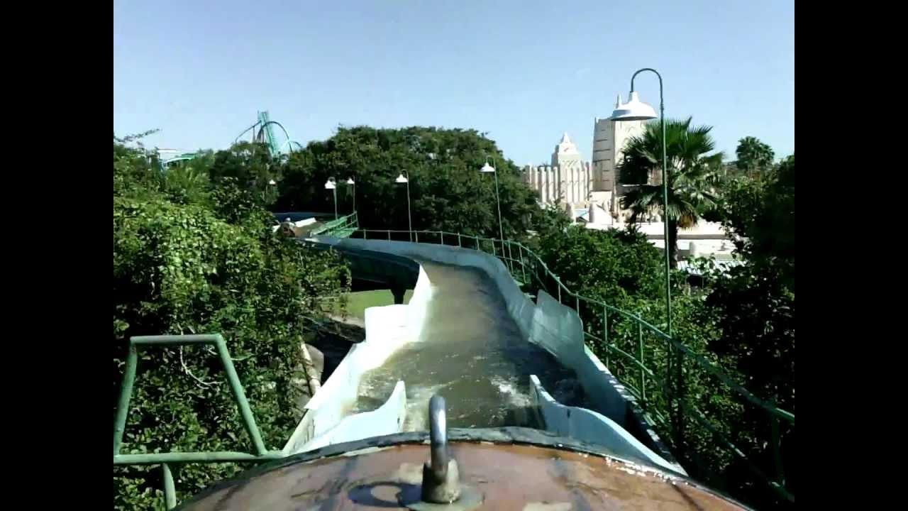 Busch gardens stanleyville log flume ride tampa point of view youtube for Busch gardens tampa water rides