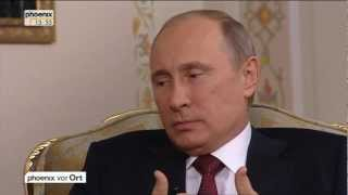 Jörg Schönenborn im Gespräch mit Wladimir Putin