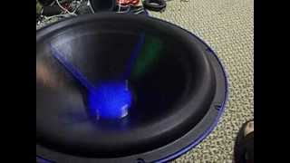 "3000 watt Free Air Resonance Excursion with a 15"" MOFO"