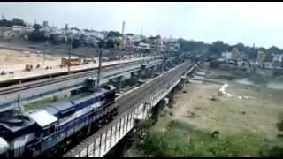 Madurai karan da..... In frontbof train.... No fear..... Only JALLIKATTU fever....