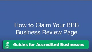 How To Claim a BBB Business Review Page