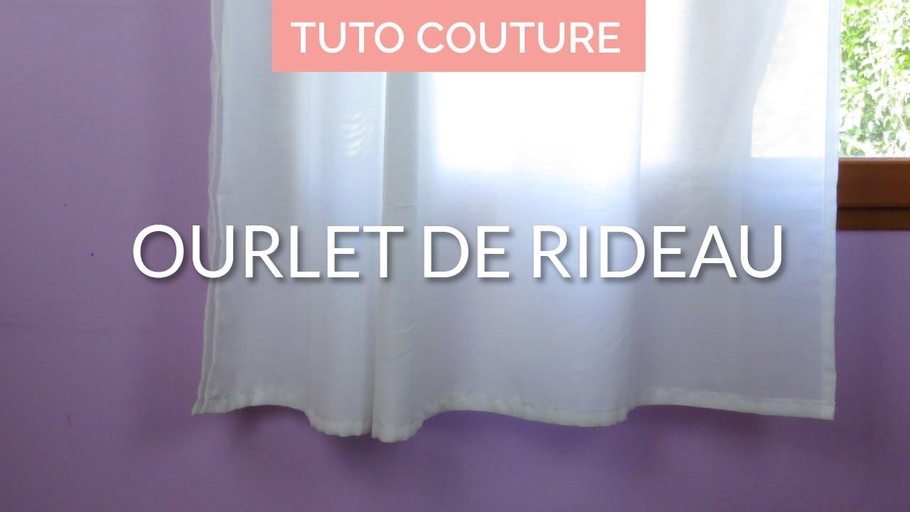 comment faire un ourlet de rideau tuto couture facile