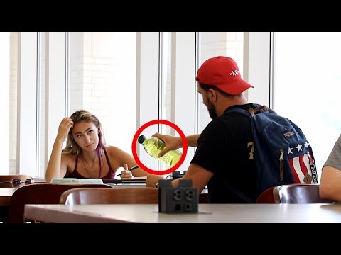 COOKING IN THE LIBRARY PRANK!!