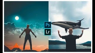 Danish Zehen EDITING | PHOTOSHOP LIGHT ROOM TUTORIAL|FLOATING WHALE | VISUAL EDITING