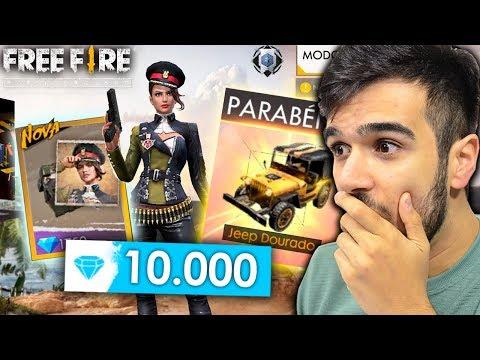 VOLTEI DA CHINA E GASTEI 10 MIL DIAMANTES NO FREE FIRE!! LIBEREI TUDO!!