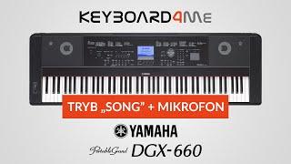 yamaha dgx 660 tryb song mikrofon keyboard4me pl