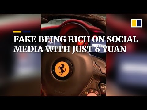 Fake being rich on social media with just 6 yuan