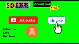 4K 60FPS Green Screen Subscribe, Notify Bell, Like Button!! | Download Free
