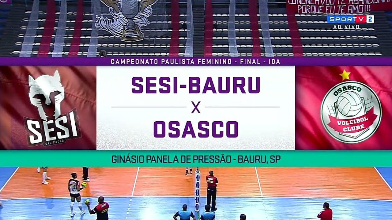 JOGO 1 Osasco x SESI Bauru | Paulista de Volei Feminino 2020 17.10.2020 [1080p Full HD]