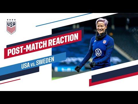POST-MATCH REACTION: Megan Rapinoe   USWNT vs. Sweden   04-10-21