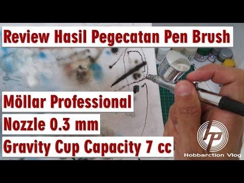 Review Hasil Pengecatan Pen Brush Mollar Professional 0.3 mm Gravity Cup Capacity 7 cc