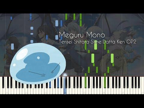 Meguru Mono - Tensei Shitara Slime Datta Ken OP2 - Piano Arrangement [Synthesia]