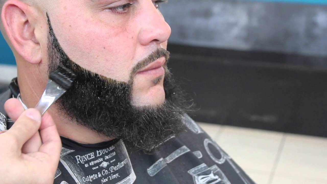 bigen dye beard line