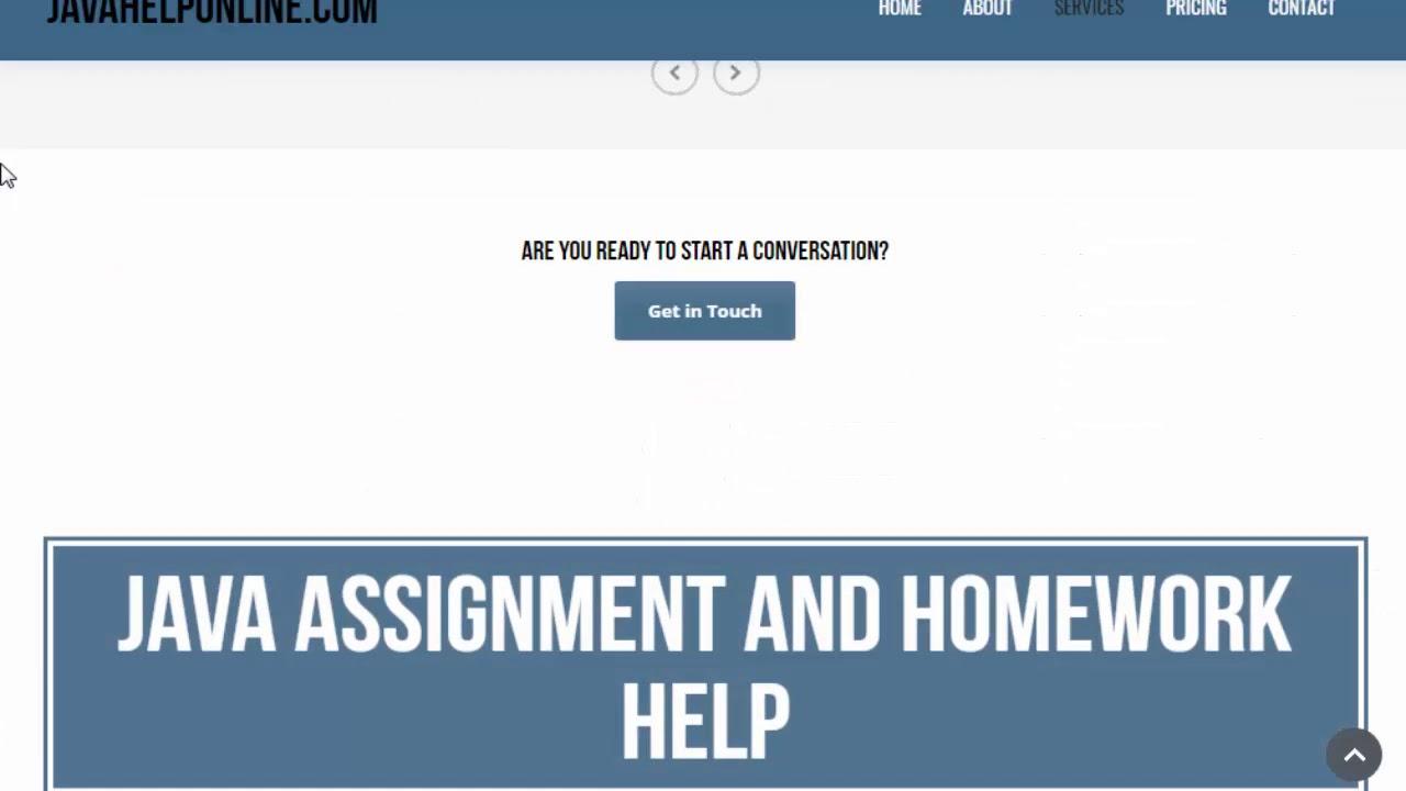 Java Assignment Help, Java Project & Homework help Online