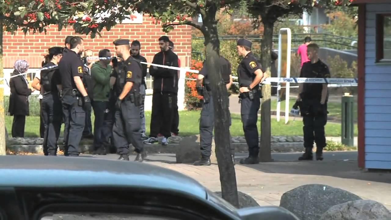 Polisen skot skarpt i rosengard