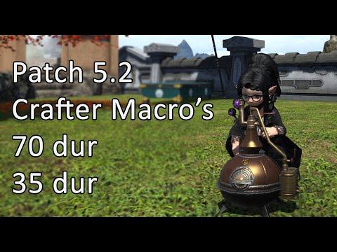Patch 5.2 Crafting Macro's - 70 Dur / 35 Dur - FFXIV
