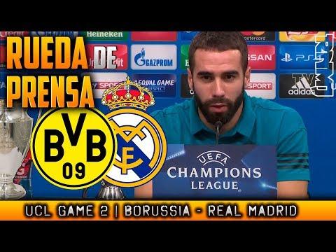 Borussia Dortmund - Real Madrid Rueda de prensa de CARVAJAL Champions (25/09/2017)