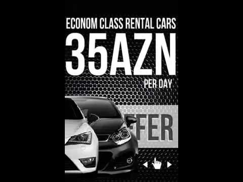 HTML5 banner for EURORENT Rent a Car company in Baku, Azerbaijan