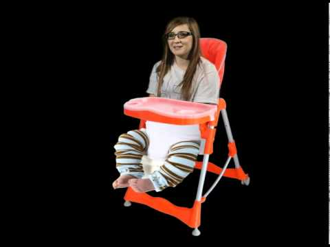 Midget in high chair