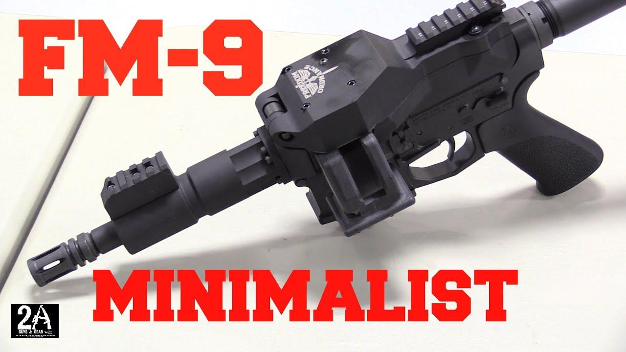 Freedom Ordnance NEW, FM-9 9mm Minimalist Belt Fed AR15 Upper