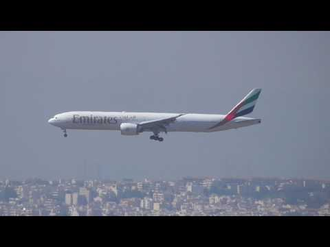 Emirates Boeing 777-300 A6-EBR NewYork-Athens landing in El.Venizelos