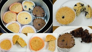 4 MUFFINS RECIPE l EGG LESS & WITHOUT OVEN l CUP CAKE RECIPE