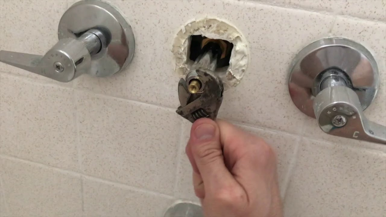 How To Repair Replace 3 Way Shower Faucet Diverter Fast Easy Youtube