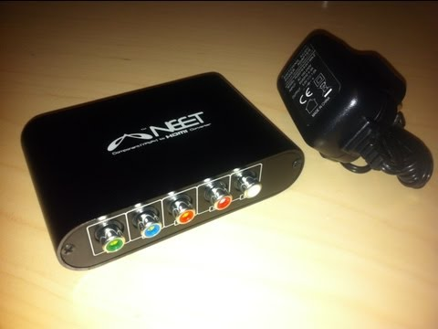 Neet Component YPbPr To HDMI Video Converter Unboxing
