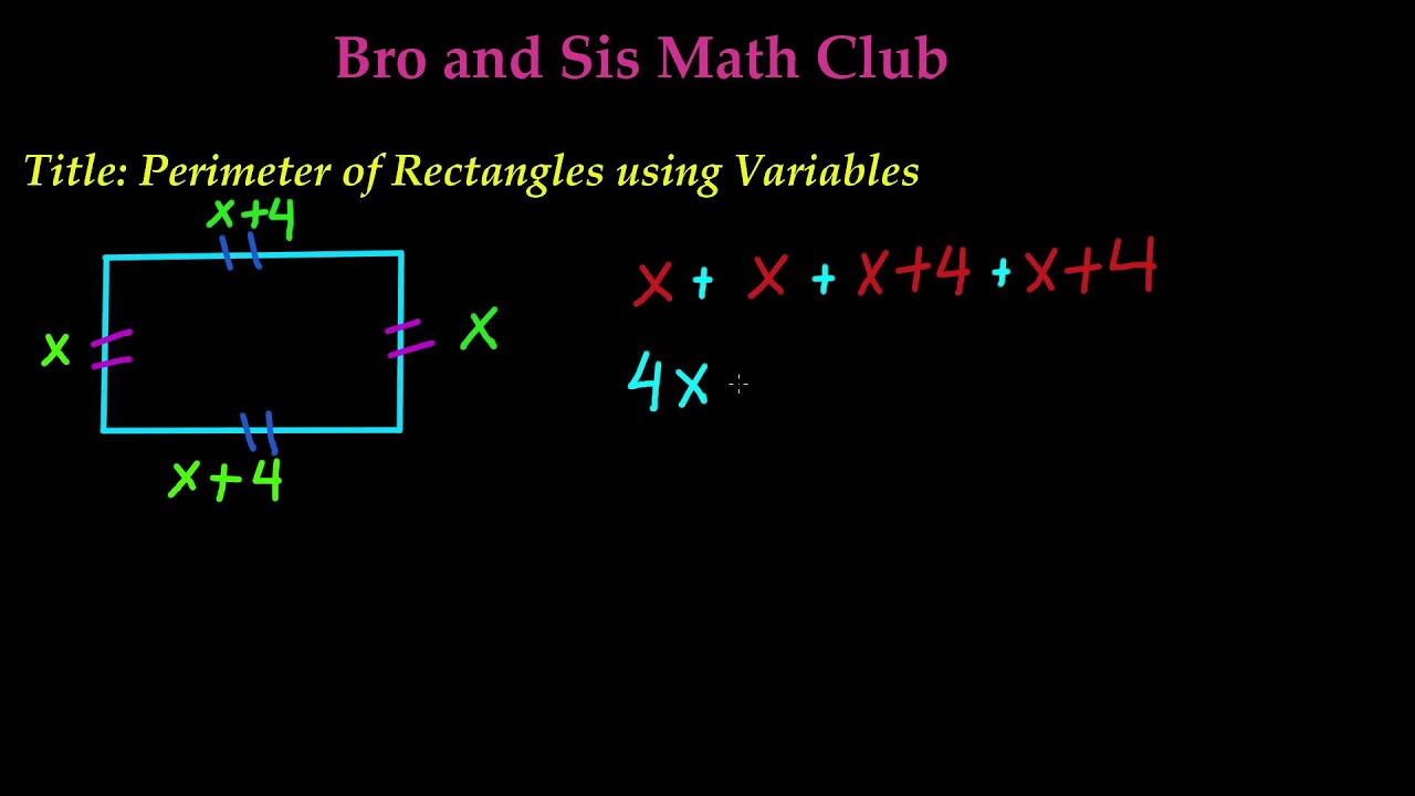 Perimeter of rectangle using variables 7th grade math youtube perimeter of rectangle using variables 7th grade math ccuart Gallery