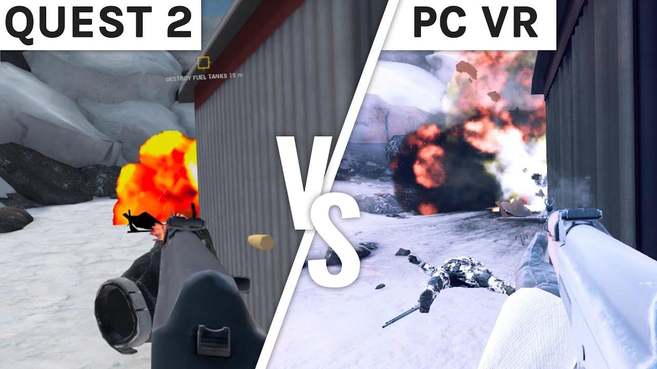 Zero Caliber VR Graphics Comparison - Quest 2 vs PC VR