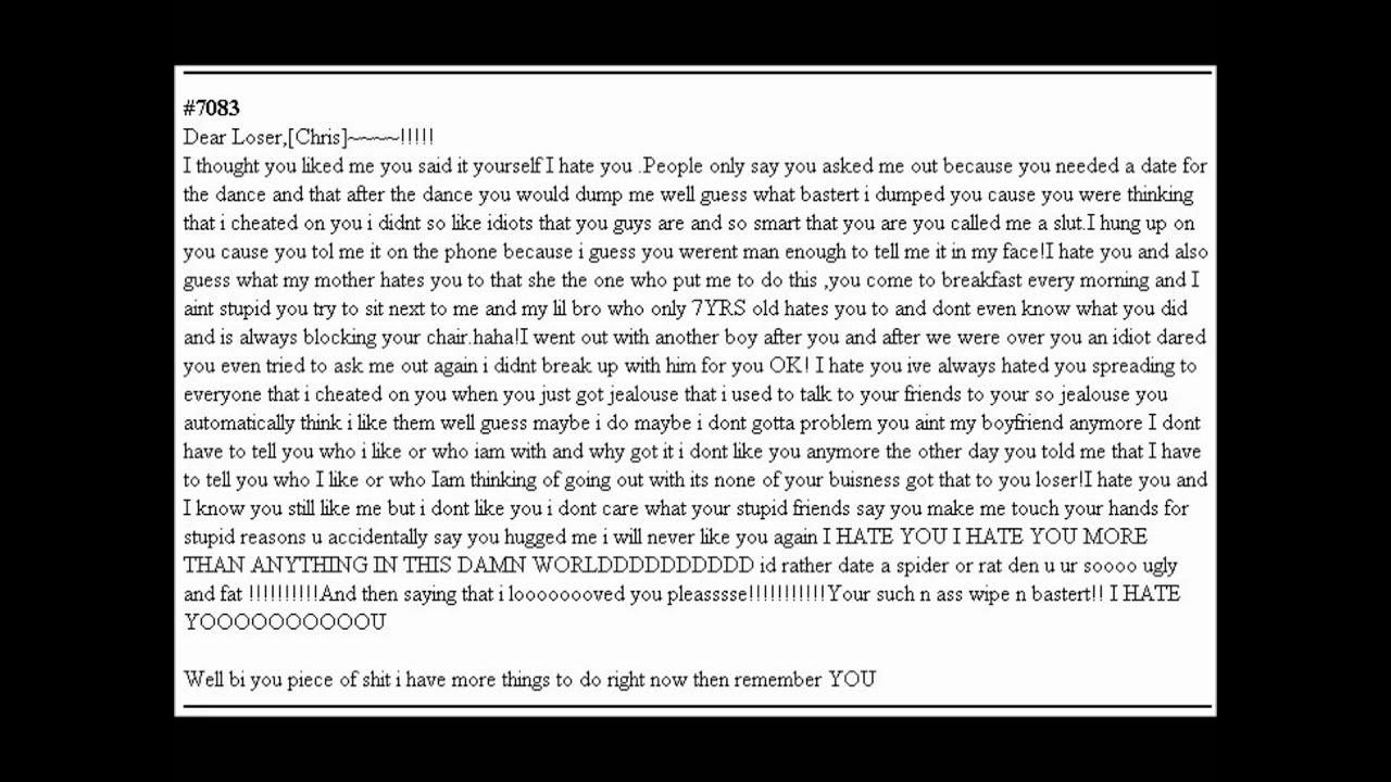 Break Up Letter Template