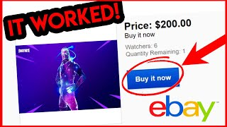 I Bought a Rare Fortnite Account on Ebay and it Worked! Fortnite Ultimate Edition