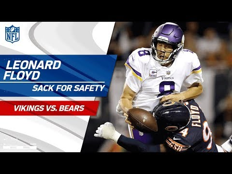 Leonard Floyd Brings Bradford Down for a Safety! 🙏 | Vikings vs. Bears | NFL Wk 5 Highlights
