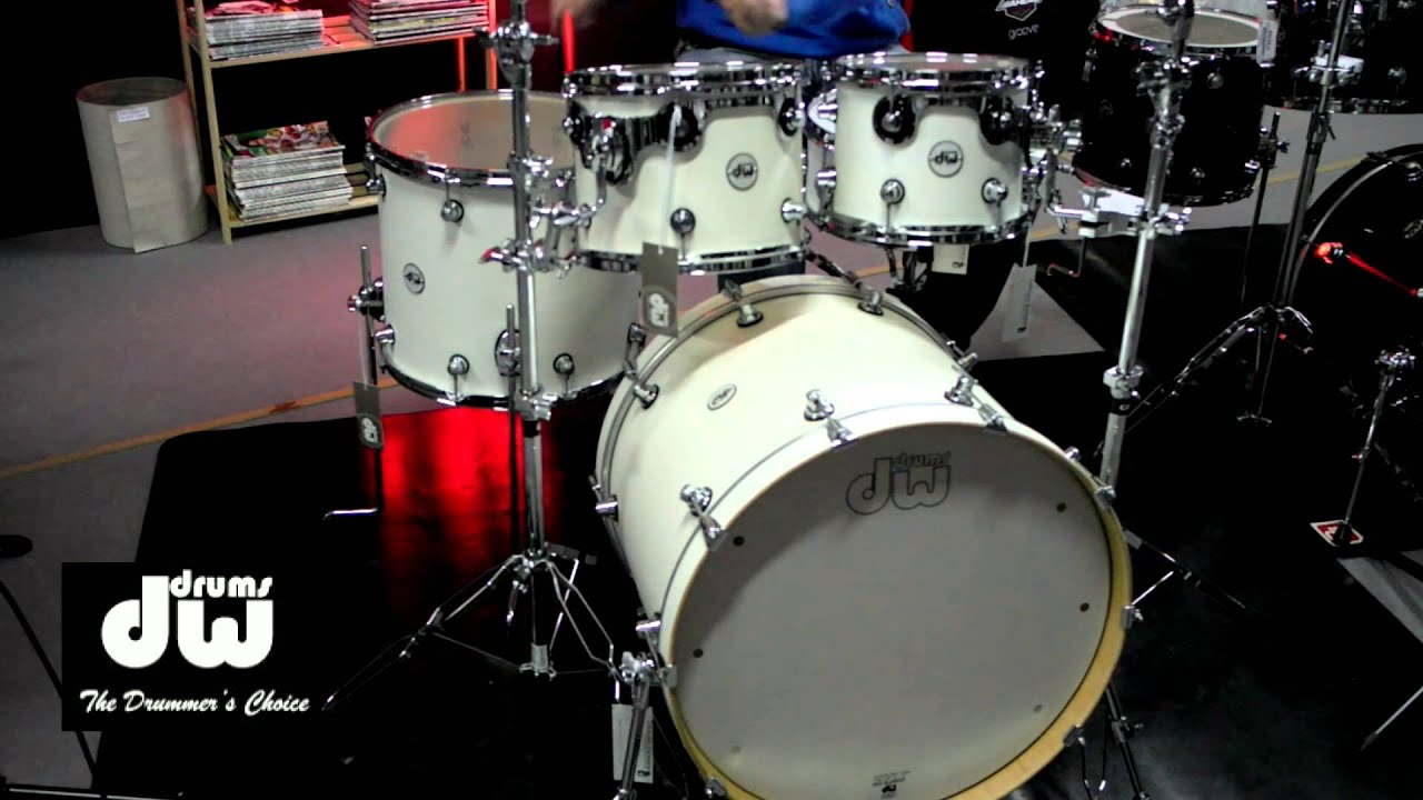 bateria dw design series white satin groove it up drum shop youtube. Black Bedroom Furniture Sets. Home Design Ideas