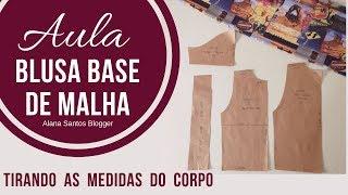 Alana Santos Blogger  Como fazer molde  Base de blusa de malha