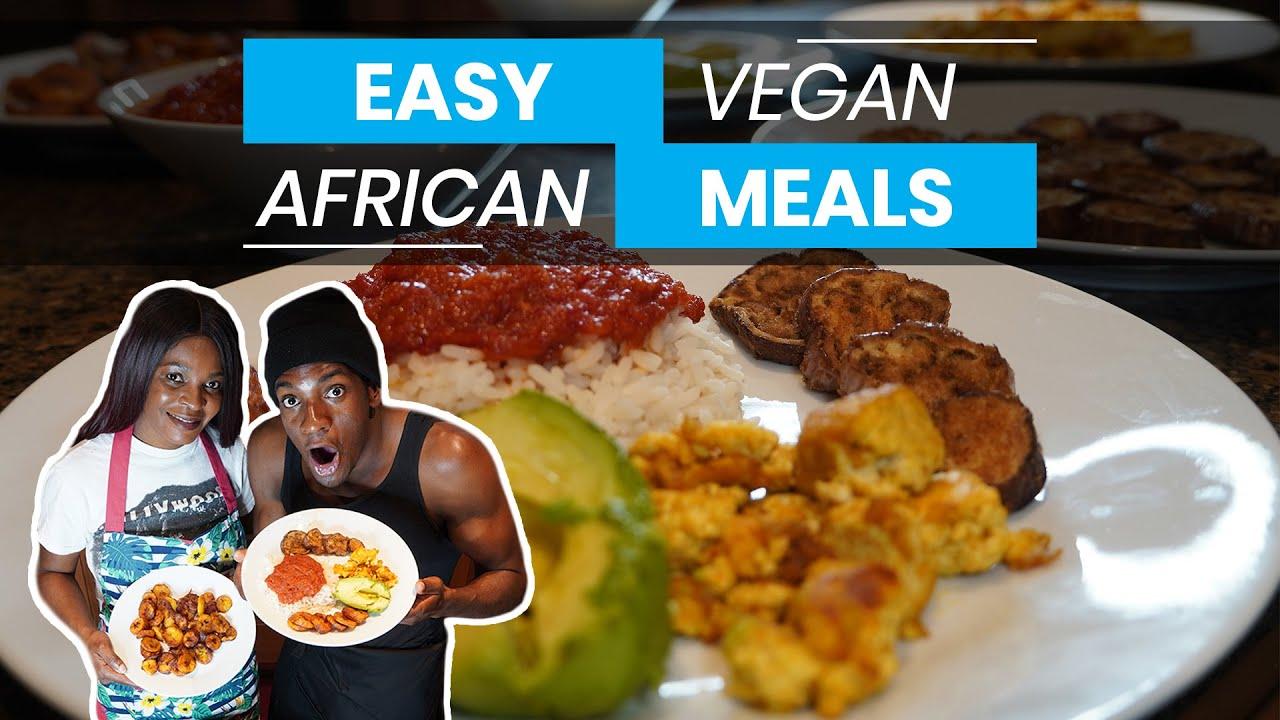 Easy VEGAN African Meals | Mom & Son Nigerian Cooking Recipe