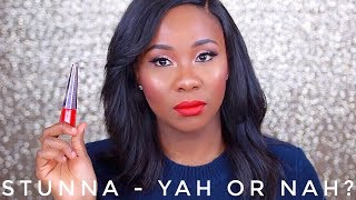 FENTY BEAUTY STUNNA LIP PAINT REVIEW ON DARK SKIN I AFFORDABLE DUPES AND SWATCHES!!!