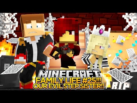FAMILY LIFE #25 - MEETING OUR EVIL STEP SISTER!! - Little Donny & Baby Leah Minecraft Roleplay!