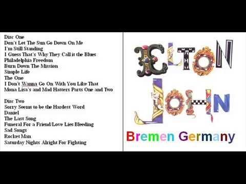 "ELTON JOHN LIVE ""BREMEN GERMANY"" 1992"