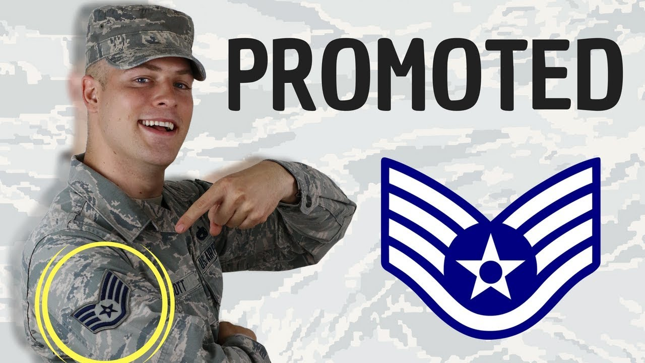 I got promoted in the Air Force - YouTube